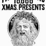 Christmas Present Ad, 1890 Poster