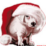 Christmas Pup Poster
