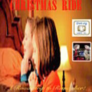Christmas Ride Family Poster By Karen E. Francis Poster