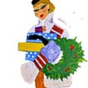 Christmas Shopping - Shop On-line Poster