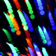 Christmas Time Lights On Tree Poster
