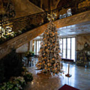 Christmas Tree And Staircase Marble House Newport Rhode Island Poster