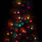 Christmas Tree Splatter Paint Abstract Poster