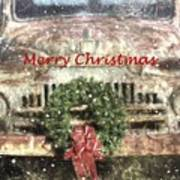 Christmas Truck Poster