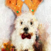Christmas Westie Poster