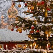 Christmastime At Tivoli Gardens Poster by Keenpress