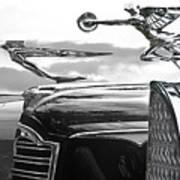Chrome Hood Ornaments Vintage Cars Poster
