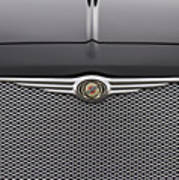 Chrysler 300 Logo And Grill Poster