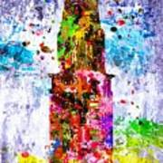 Chrysler Building Colored Grunge Poster