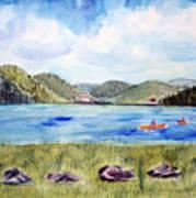 Chrystal Lake  Barton Vt  Poster