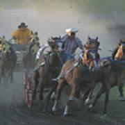 Chuckwagon Racing Poster
