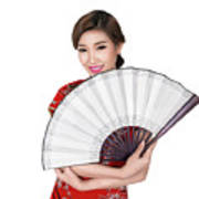 Chunese Lady In Chinese Dress Poster