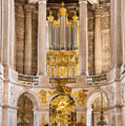 Church Altar Inside Palace Of Versailles Poster