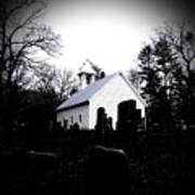 Church And Cemetary- Lens Poster