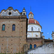 Church Building In Cotacachi Poster