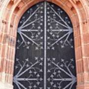 Church Door In Eltville Poster