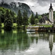 Church In Julian Alps Slovenia Poster
