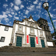 Church In Ribeira Grande Poster