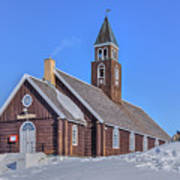 church of Ilulissat - Greenland Poster