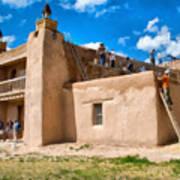 Church Of San Jose De Gracia In Las Trampas New Mexico Poster