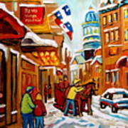 Church Street In Winter Poster
