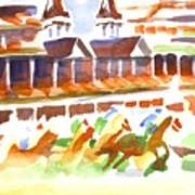 Churchill Downs Watercolor Poster