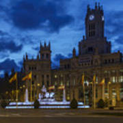 Cibeles Fountain Madrid Spain Poster