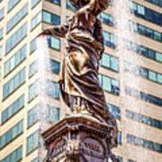 Cincinnati Fountain Genius Of Water By Tyler Davidson  Poster by Paul Velgos
