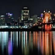 Cincinnati Lights The Ohio River Poster
