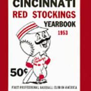Cincinnati  Reds 1953 Yearbook Poster