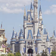 Cinderella Castle At Walt Disney World Poster