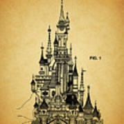 Cinderella Castle Patent Poster