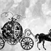 Cinderella's Carriage-black Poster