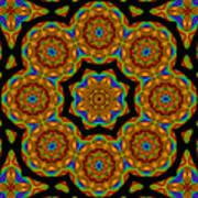 Circled Floral Mandala Poster