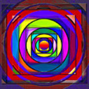 Circles And Squares Abstract Poster