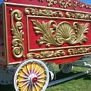 Circus Car In Red And Gold Poster