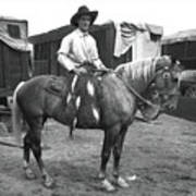 Circus Cowboy On Horse Poster