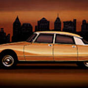 Citroen Ds 1955 Painting Poster