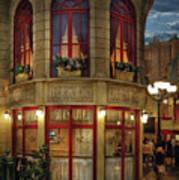 City - Vegas - Paris - Le Cafe Poster