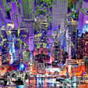 City Art Syncopation Cityscape Poster