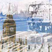 City Art Westminster Collage Poster