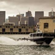 City Bay Police Boat - Color  Poster