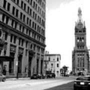 City Hall B-w Poster