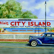 City Island Billboard Poster by Marguerite Chadwick-Juner