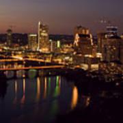 City Of Austin At Dusk Poster