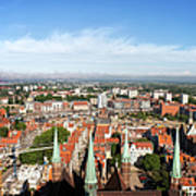 City Of Gdansk Aerial View Poster