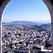 City Of Nazareth From The Saint Gabriel Bell Tower Poster by Thomas R Fletcher