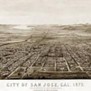 City Of San Jose County Of Santa Clara 1875 Poster