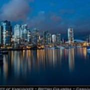 City Of Vancouver British Columbia Canada Poster