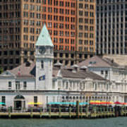 City Pier A And Pier A Harbor House In New York City Poster